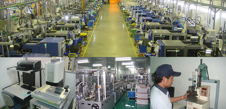 海外自社工場での射出成形量産体制