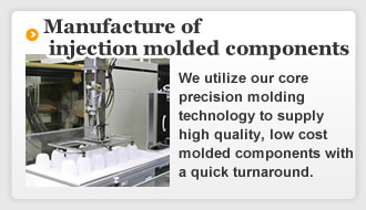 Case examples of manufacture of injection molded components